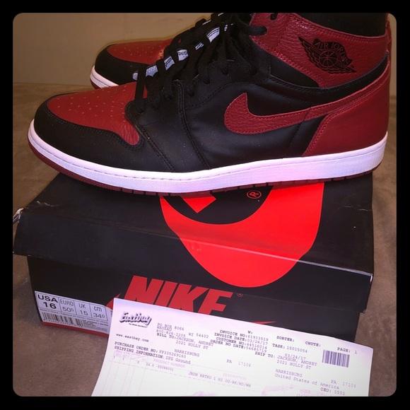 Pre Owned Air Jordan Bred Size